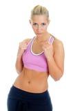 Giovane addestratore femminile di forma fisica Fotografie Stock