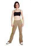 Giovane addestratore femminile sottile di forma fisica Immagini Stock Libere da Diritti