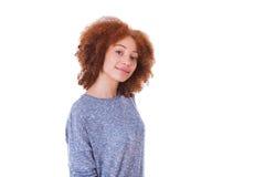 Giovane adolescente ispanico isolato su fondo bianco Fotografie Stock