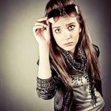 Giovane adolescente sorpreso Fotografie Stock