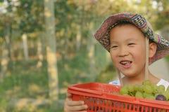 Giovane agricoltore felice Immagini Stock