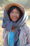 Giovane agricoltore nel paese di Bagan Immagini Stock Libere da Diritti