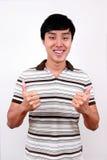 Giovane allievo asiatico. Immagine Stock