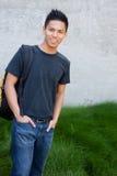 Giovane allievo asiatico maschio Fotografie Stock Libere da Diritti