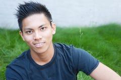 Giovane allievo asiatico maschio Immagini Stock Libere da Diritti