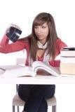 Giovane allievo che studia per gli esami Immagini Stock Libere da Diritti