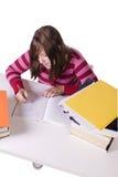 Giovane allievo che studia per gli esami Immagini Stock