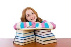 Giovane allievo con i libri Fotografia Stock