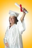 Giovane allievo con il diploma Immagine Stock Libera da Diritti