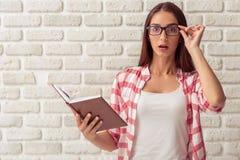 Giovane allievo femminile attraente Fotografia Stock Libera da Diritti