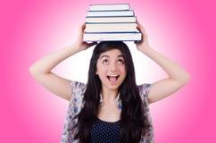 Giovane allievo femminile con i libri Immagine Stock Libera da Diritti