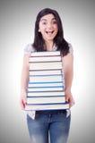 Giovane allievo femminile con i libri Immagini Stock