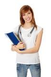 Giovane allievo femminile della medicina Immagini Stock Libere da Diritti