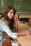 Giovane allievo nell'aula Fotografia Stock Libera da Diritti
