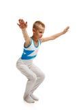 Giovane allungamento della ginnasta Fotografie Stock