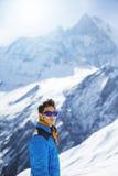 Giovane alpinista etnico asiatico in Himalaya Fotografia Stock Libera da Diritti