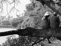 Giovane amore, Hanoi fotografia stock