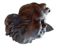 Giovane angelo nella scultura in legno Fotografia Stock