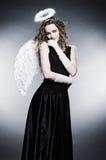 Giovane angelo riccio Fotografia Stock Libera da Diritti
