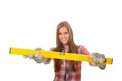 Giovane artigianale ed equilibrio idrico giallo Fotografia Stock Libera da Diritti