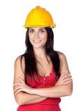 Giovane assistente tecnico attraente Immagini Stock Libere da Diritti