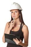 Giovane assistente tecnico Pensive Immagini Stock Libere da Diritti