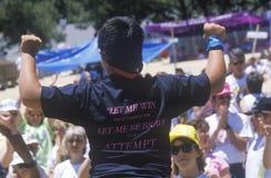 Giovane atleta andicappato Fotografia Stock Libera da Diritti