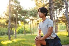 Giovane atleta asiatico sicuro immagini stock libere da diritti