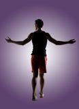 Giovane atleta maschio fotografie stock