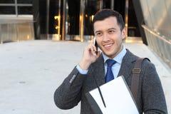 Giovane avvocato che chiama dal telefono Immagini Stock