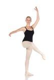 Giovane ballerina caucasica Fotografia Stock