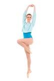 Giovane ballerina che fa gli esercizi fotografia stock