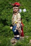 Giovane ballerino dell'indiano del piedi Neri Fotografia Stock Libera da Diritti