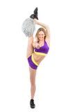 Giovane ballerino flessibile della donna della ragazza pon pon nella posa o di danza moderna Fotografia Stock