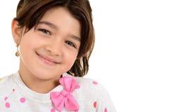 Giovane bambino femminile rumeno del ritratto Fotografia Stock
