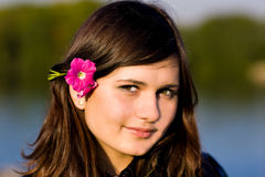 Giovane bella donna Fotografia Stock