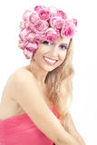 Giovane bella donna con il grande sorriso Fotografia Stock