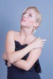 Giovane bella donna con trucco pulito perfetto di fascino e della pelle Immagine Stock Libera da Diritti
