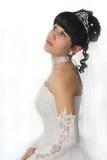 Giovane bella donna dei capelli neri Fotografia Stock