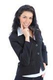 Giovane bella donna di affari fotografia stock