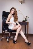 Giovane bella donna di affari Immagine Stock Libera da Diritti