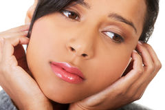 Giovane bella donna nella depressione. Immagine Stock Libera da Diritti