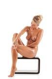 Giovane bella donna nuda Immagini Stock