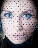 Giovane bella donna, ragazza bionda, studio Immagini Stock Libere da Diritti