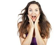 Giovane bella donna sorpresa Immagine Stock