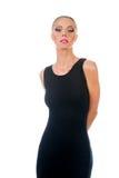 Giovane bella donna in vestito da sera Fotografia Stock Libera da Diritti