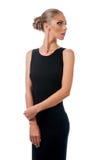 Giovane bella donna in vestito da sera Fotografia Stock