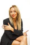 Giovane bella e donna di affari sexy Fotografia Stock