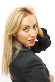 Giovane bella e donna di affari sexy Fotografia Stock Libera da Diritti