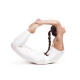 Giovane bella posa di yoga della donna Isolato Fotografia Stock Libera da Diritti